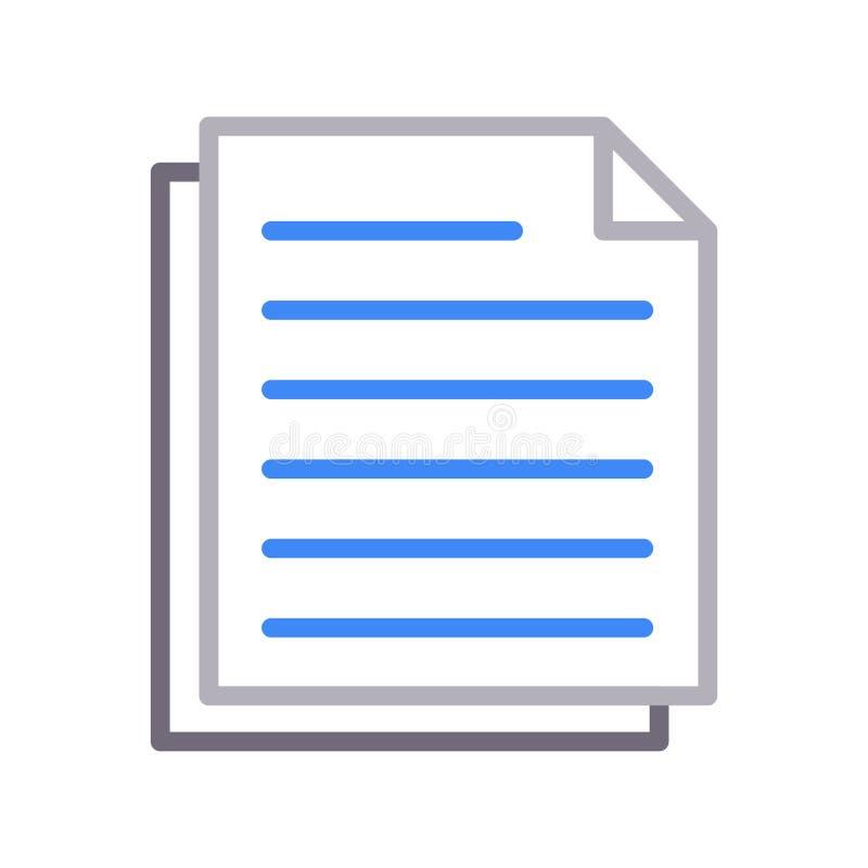 Files thin color lline vector icon royalty free illustration