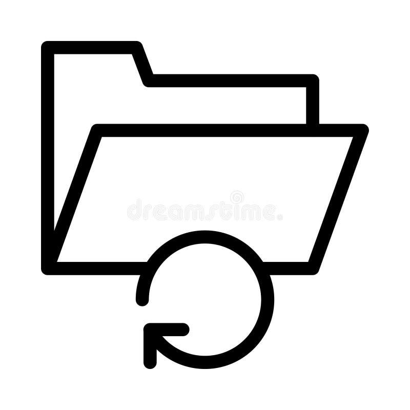 Files thin line vector icon vector illustration