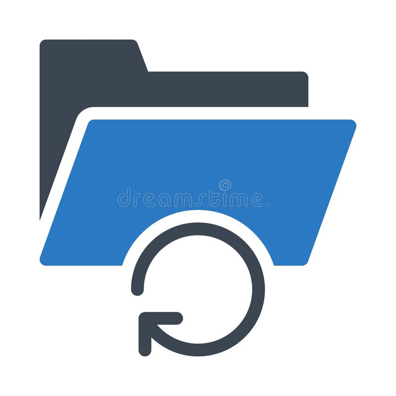 Files glyph colour vector icon. Files vector icon. Elements for mobile concept and web apps. Thin line icons for website design and development, app development stock illustration