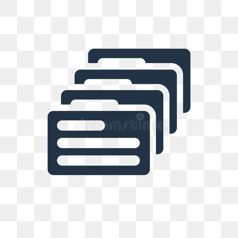 Files vector icon isolated on transparent background, Files tra stock illustration
