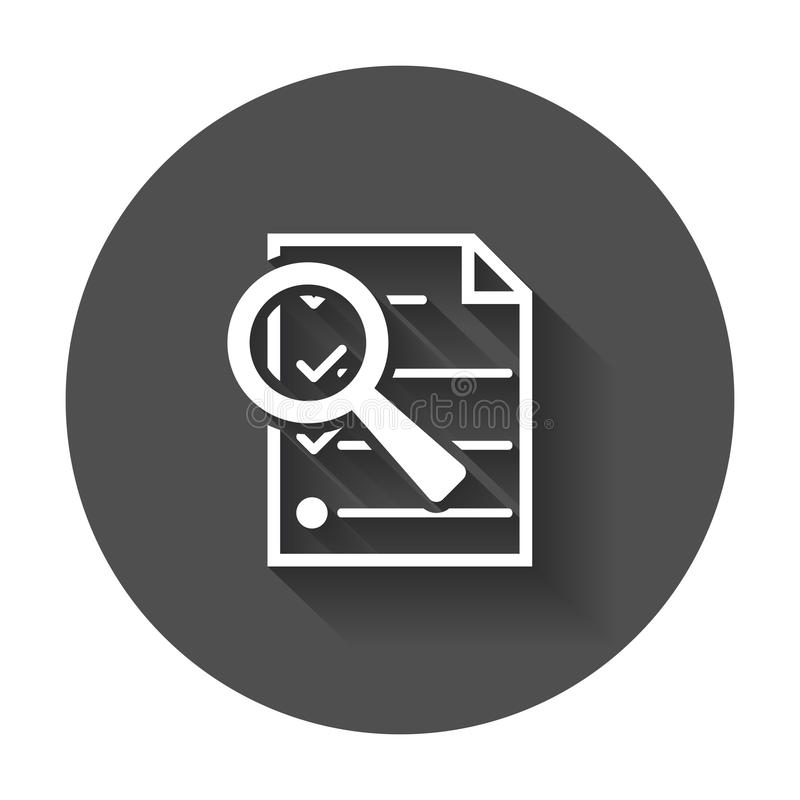 Files zoom icon. vector illustration