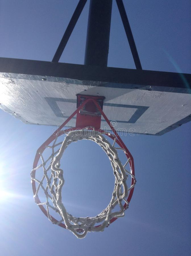 Filet de basket-ball photographie stock