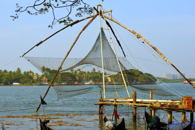 Filet de pêche chinois image libre de droits