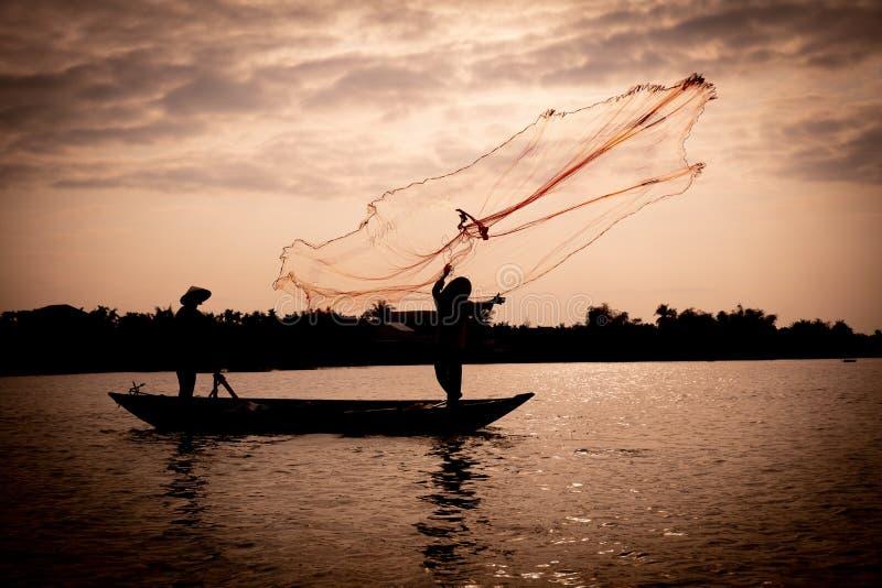 Filet de pêche de lancement au Vietnam photo libre de droits