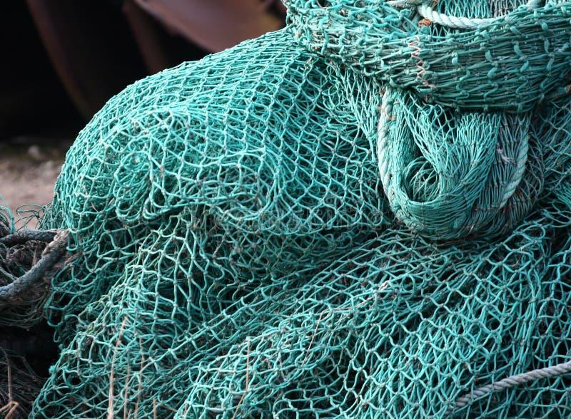Filet de pêche sur un bateau image libre de droits