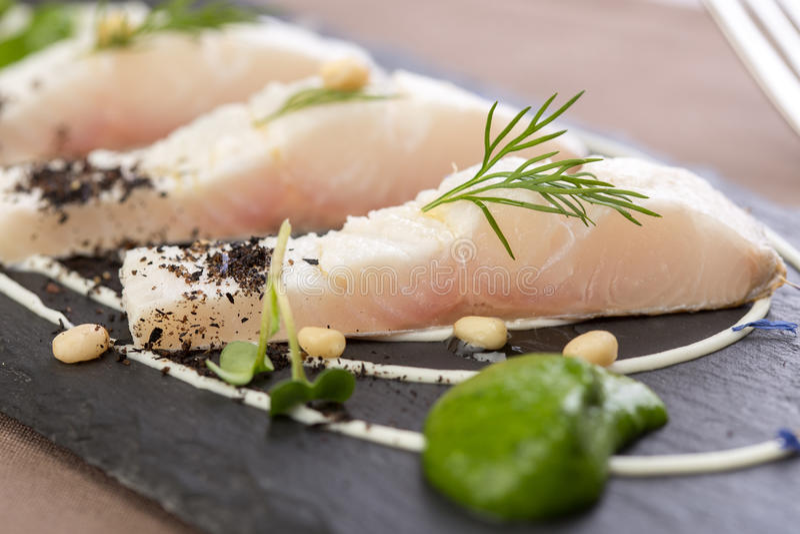 Filet de poisson à chair blanche photos stock