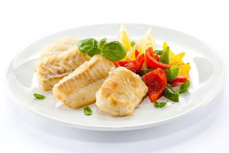 Filet de poissons de rôti images stock