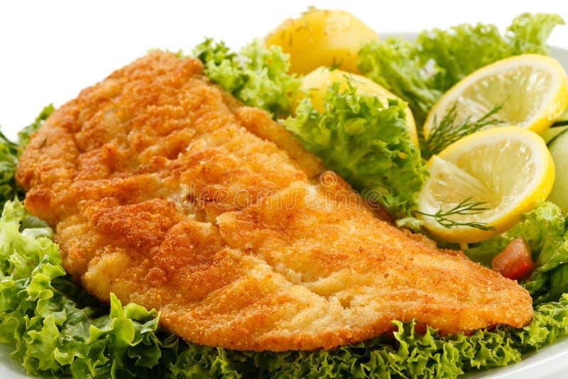 Filet de poissons frit photos libres de droits