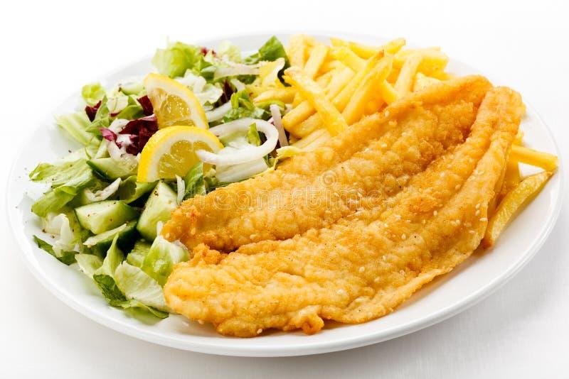 Filet de poissons frit photographie stock libre de droits
