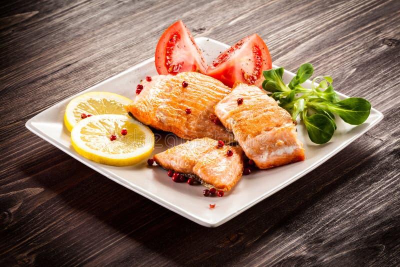 Filet de poissons frit images stock