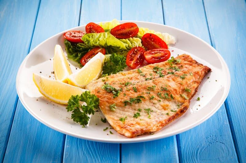 Filet de poissons frit image libre de droits