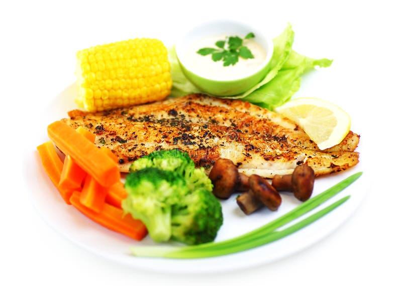 Filet de poissons savoureux photo stock
