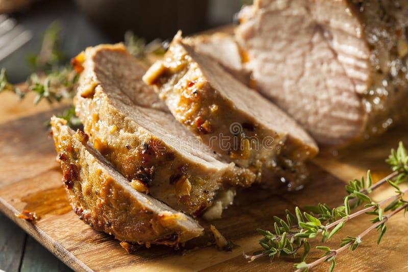 Filet de porc chaud fait maison photo stock