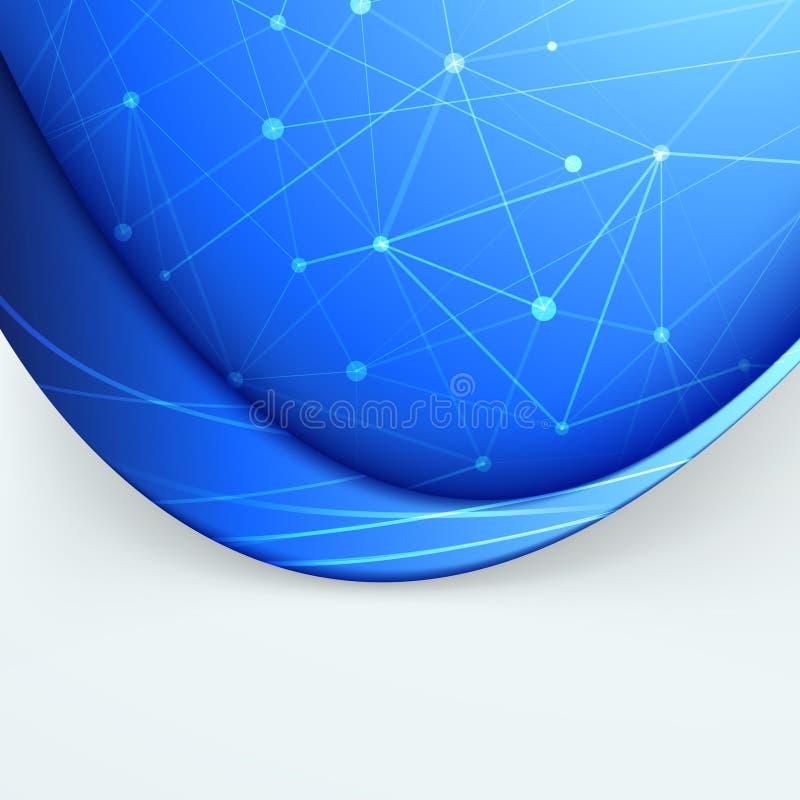 Filet doux de dossier de vague de bruissement de connexion illustration de vecteur