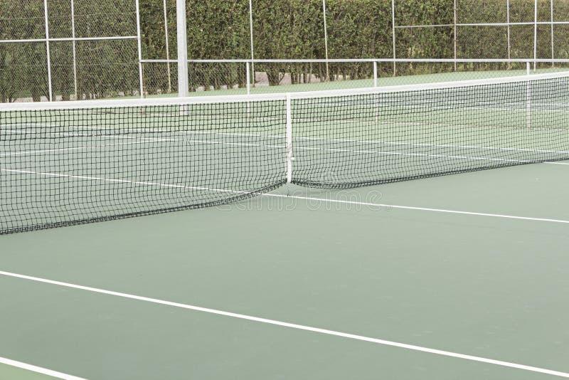 Filet et court de tennis photo libre de droits