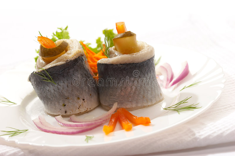 Filet of herring royalty free stock image