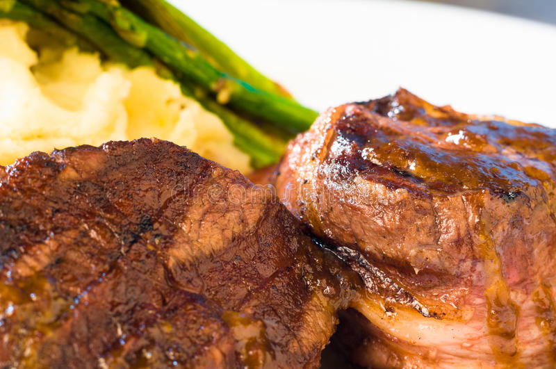 Filet mignon. Steak on a plate stock photography