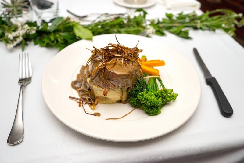 Filet Mignon Formal Meal photographie stock libre de droits