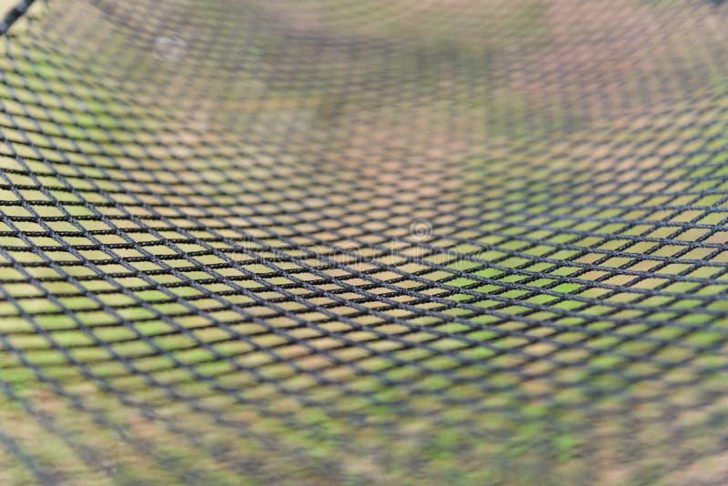 Filet noir en gros plan d'hamac de couleur image libre de droits