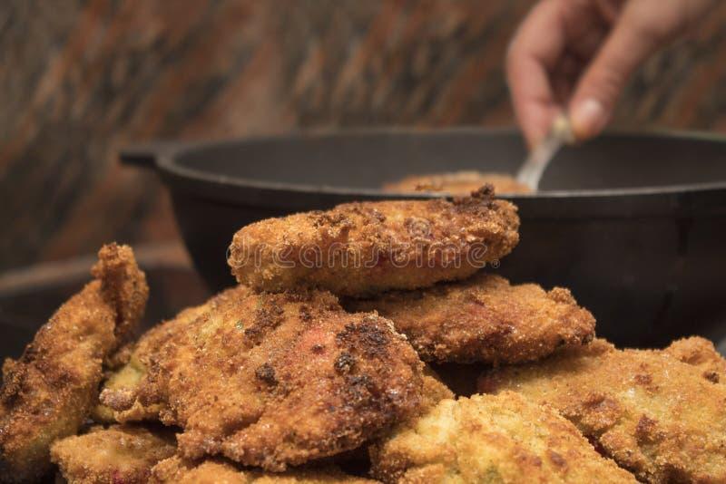 Filet pané de poulet photos libres de droits