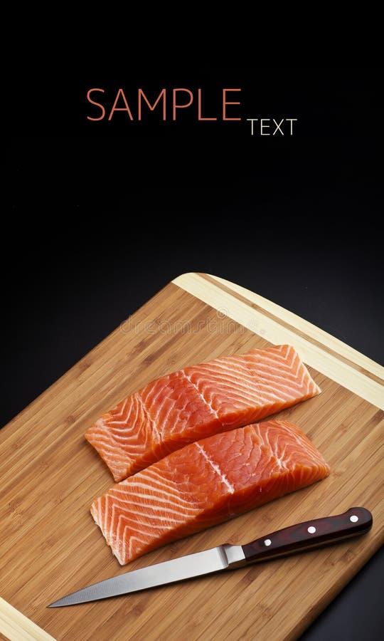 Filet saumoné photographie stock