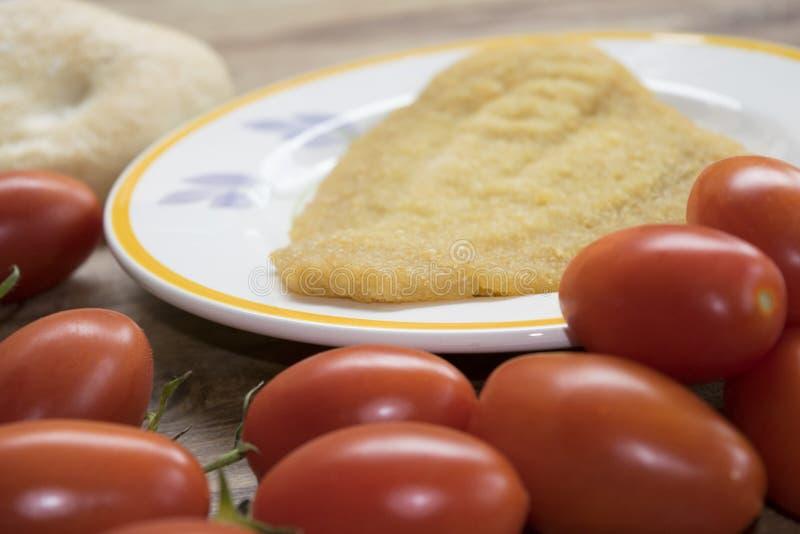Filet unique pané et frit image stock