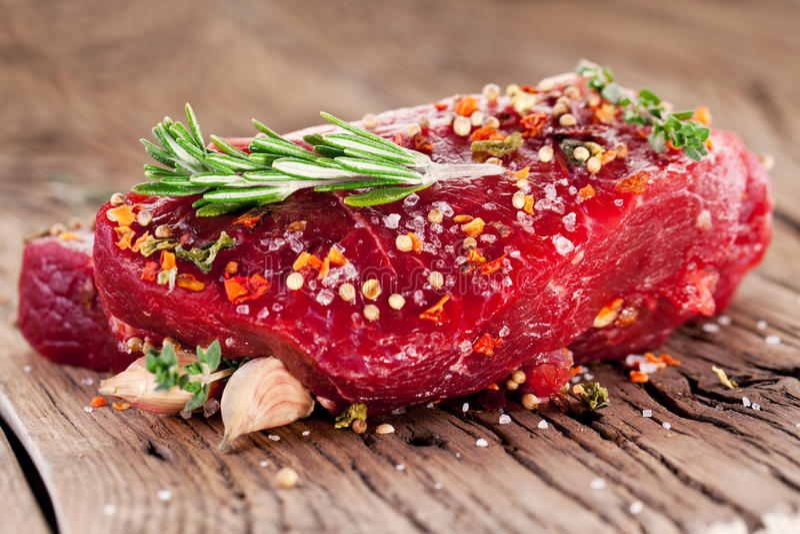 Filete de carne de vaca. imagenes de archivo