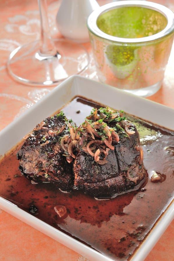 Filete de carne de vaca fotografía de archivo