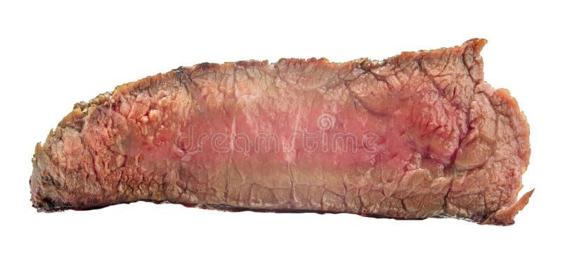 Filete de carne de vaca crudo, un pedazo de carne aislado en el fondo blanco foto de archivo libre de regalías