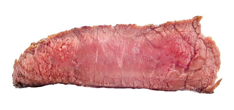 Filete de carne de vaca crudo, un pedazo de carne aislado en el fondo blanco fotografía de archivo libre de regalías