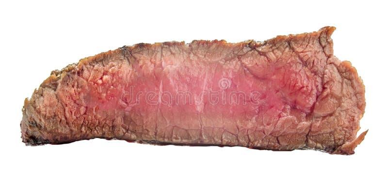 Filete de carne de vaca crudo, un pedazo de carne aislado en el fondo blanco imagen de archivo libre de regalías