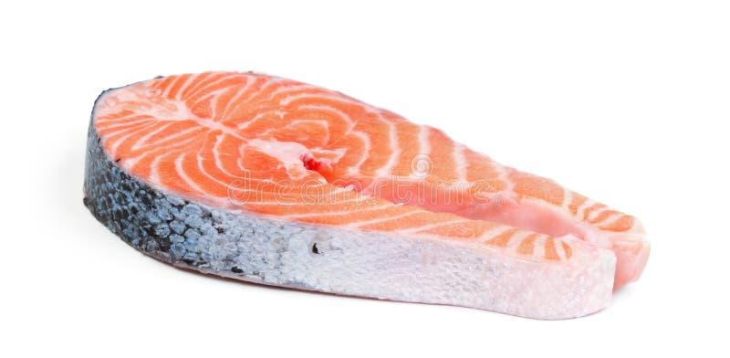 Filete de color salmón aislado en blanco fotografía de archivo