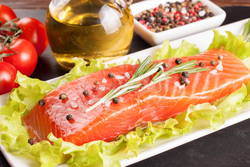 Filete de color salmón sin procesar fotografía de archivo