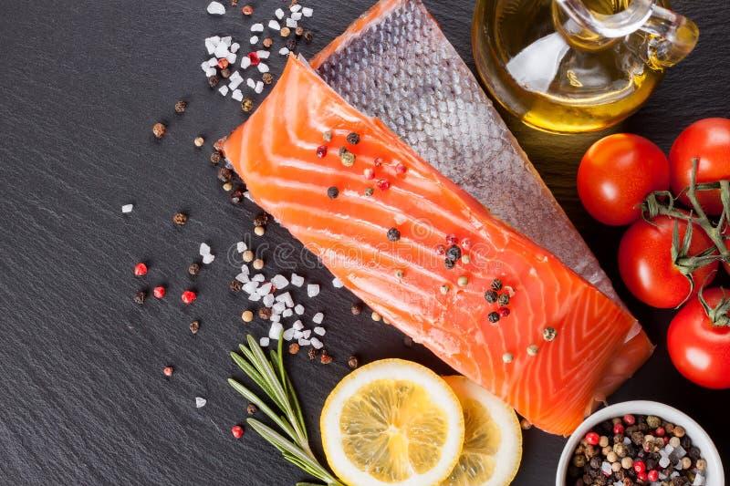 Filete de color salmón sin procesar fotografía de archivo libre de regalías