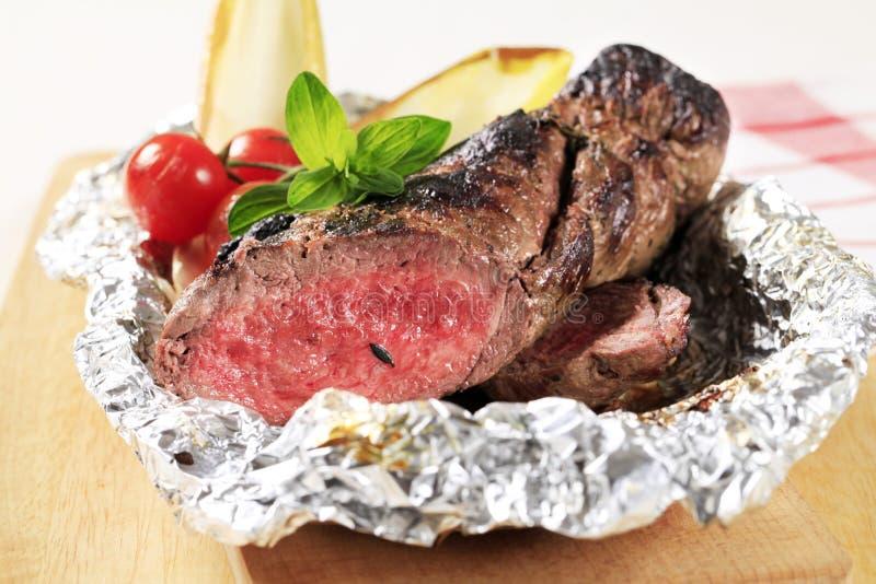 Filete de la carne de vaca de carne asada fotografía de archivo