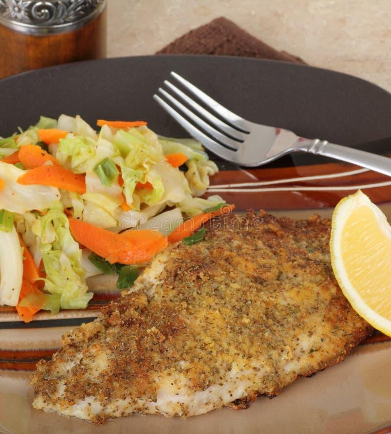 Filete de pescados frito fotografía de archivo