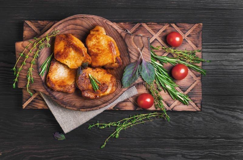 Filete frito carne del cerdo imagen de archivo libre de regalías