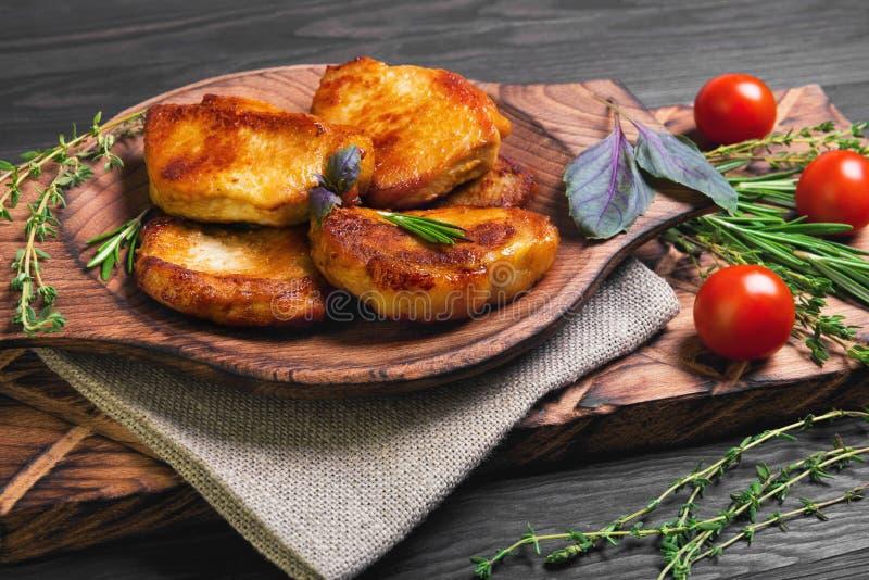 Filete frito carne del cerdo fotos de archivo libres de regalías