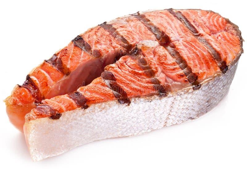 Filete grande de salmones asados a la parrilla. imagenes de archivo
