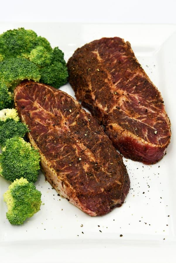Filete plano del hierro de la carne de vaca imágenes de archivo libres de regalías