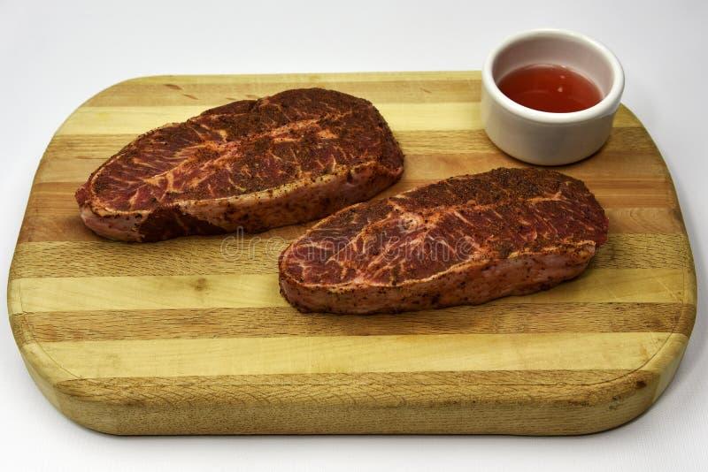 Filete plano del hierro de la carne de vaca fotos de archivo