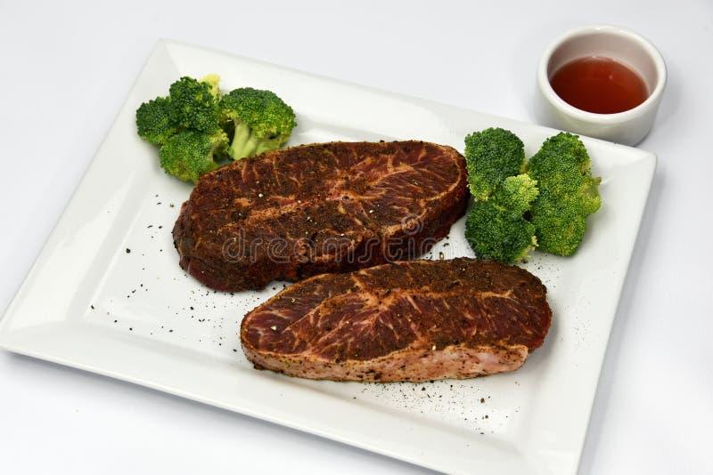 Filete plano del hierro de la carne de vaca imagen de archivo libre de regalías
