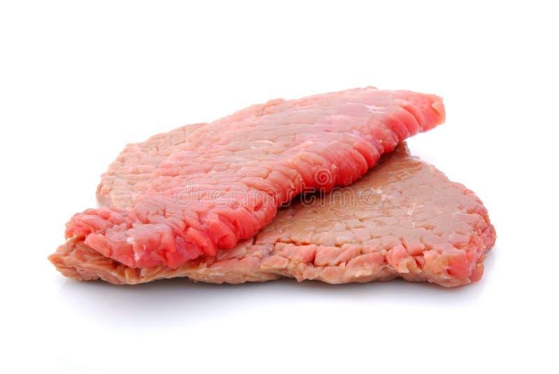 Filetes de carne de vaca ablandados fotos de archivo
