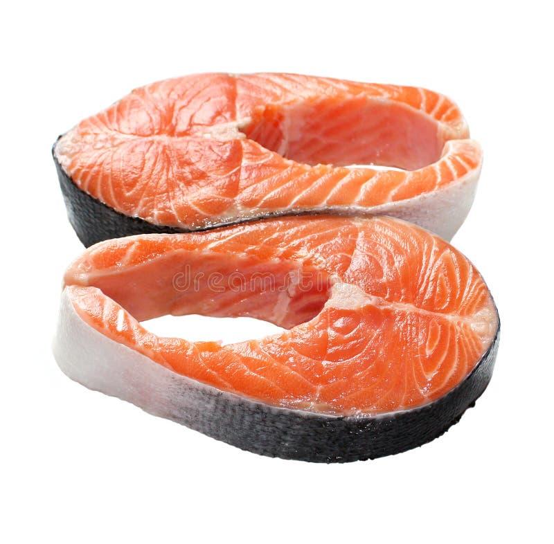 Filetes de color salmón imagenes de archivo