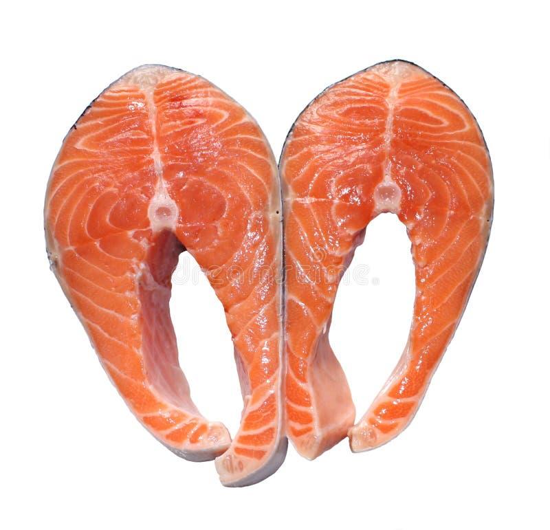 Filetes de color salmón imagen de archivo
