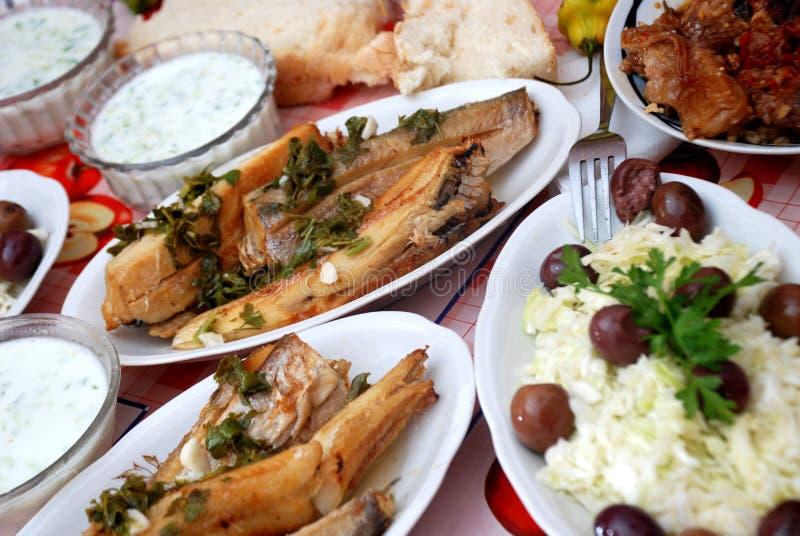 Filetes de pescados asados a la parilla foto de archivo libre de regalías