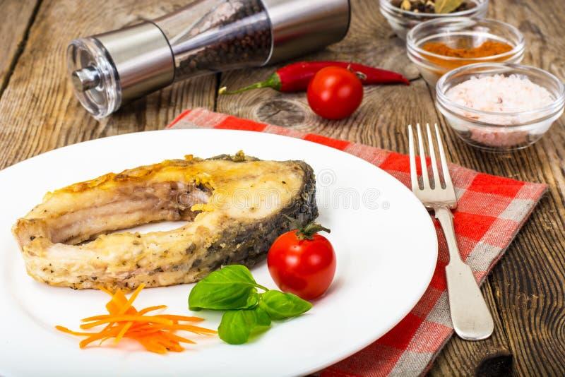 Filetes de pescados blancos fritos foto de archivo