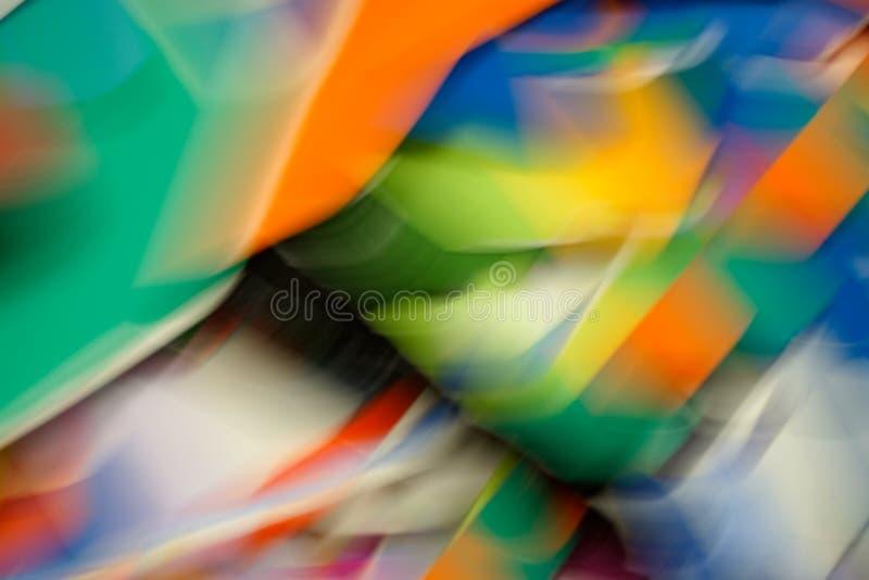 Filets de couleur et taches floues de mouvement 2 photos stock