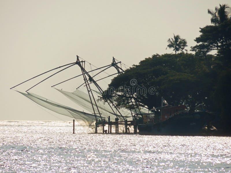 Filets de pêche chinois image libre de droits