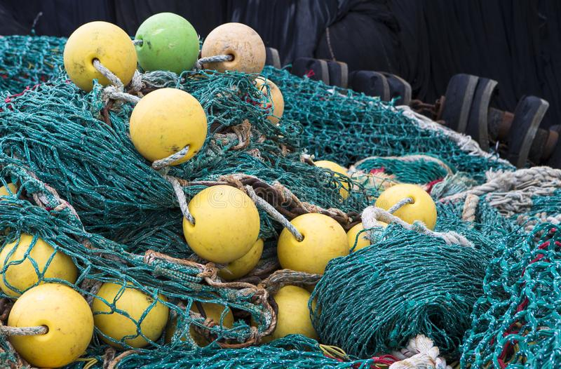Filets de pêche désordonnés photo libre de droits